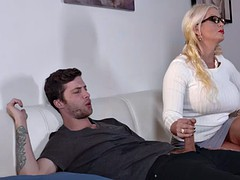 Sweet hottie babe Allura Jensen loves riding a huge dick