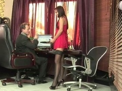 Russian secretary in fist get down and dirty action at office