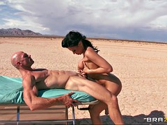 rachel starr sucks, strokes and tit fucks hard rod