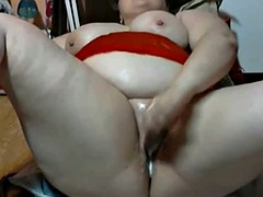 Nympho Fat BBW GF loves playing with her wet creamy pussy-2