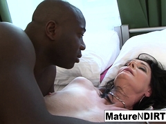 Brunette mature in lingerie is anally satisfied by BBC