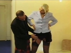 Large blonde and furthermore scottish cum cannon