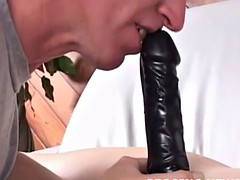 I'll pound your ass with this big dildo strapon