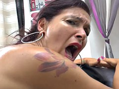 huge titted french milf analyzed dp gangbanged cum convered