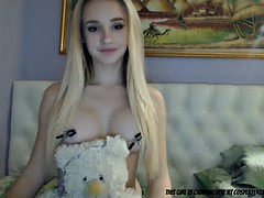 cute teen with clamps