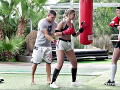 boxing coach fucks two euro blondes haley hill and scarlett scott