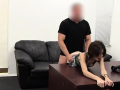 Hot amateur casting with creampie