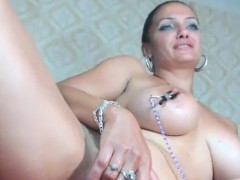 Attractive Milf Toying Solo