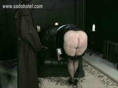 Horny Nun Thrall Is Spanked On Her Sizeable Ass And plus Hands