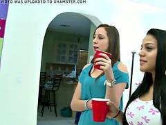 Chica, Universidad, Consolador, Grupo, Lesbiana, Juguetes