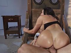 brazilian mom sybil stallone anally rides the hard dick