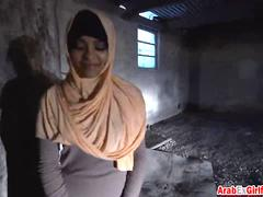 Beautiful Arab slut takes hard pussy pounding by hard cock