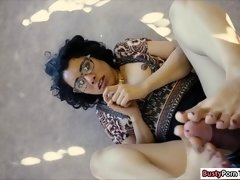 Latina broker fucked by horny client