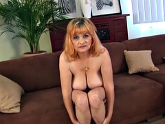 chubby hairy redhead mom masturbating