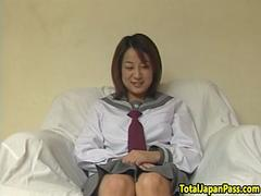 Shy asian schoolgirl pounded from behind