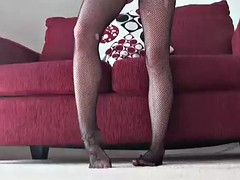 jerk off to me in my fishnets joi