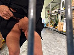 Creamy glass fuck & squirt at Walmart