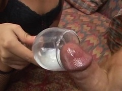 Blonde Latina hoe rides huge love tool and swallows a nice portion of cum