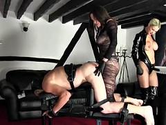 Doble penetracion, Dominacion femenina, Strapon