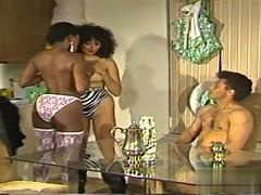 threesome classic sex with ebony