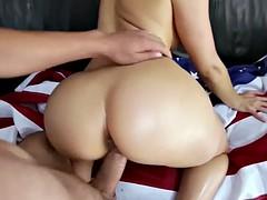 big booty blonde cumshot