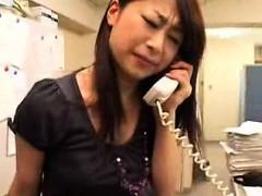Attractive Japanese secretary has a fiery pussy needing to