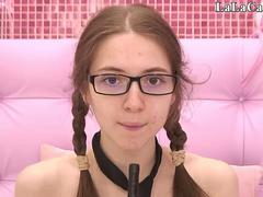 Cute nerd is ready to tease and touch her self on a webcam with toys