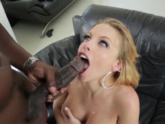 Super big tits blonde Brittney Amber pleases huge dark dick
