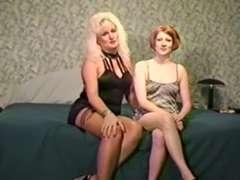 Mature ash-ash-blonde Jan introduce Linda to FAT DARK-HUED HARD-ON