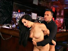Fucking the bartender after hours