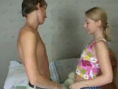 Hot Russian Girl with 2 guys