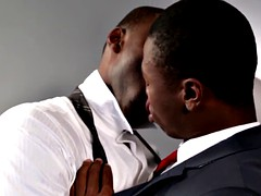black stud assfucked before jerking