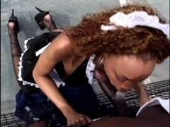 Ebony Green. black maid outdoor sex