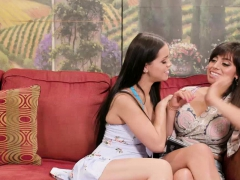 Ella on her first threesome scene with Veronica and Alina