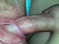 Fucking and cumming on a BBW pussy