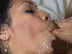 Cassand furthermorera Cruz footjob and furthermore cock sucking (cum on toes)