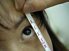 Saki Shiina has hairy cunt measured and sucks doctor phallus