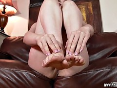 Stella Cox wants foot sex naked teasing feet for you to wank