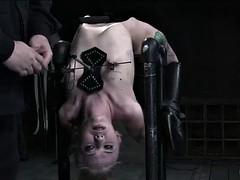 Bondage discipline sadomasochisme, Blond, Gebondenheid, Fetisj, Inshuiven, Slet, Speelgoed, Vibrator