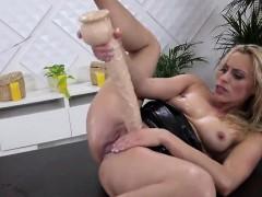Stellar kitten is peeing and pleasuring smooth pussy