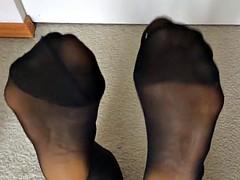 Filmer's 21 yo Asian GF in Nylons Feet