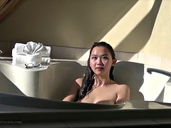 Solo in a hot tub