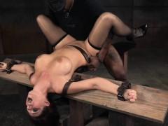 Busty redhead sub pounded by black maledom