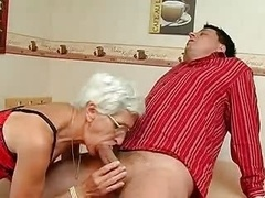Granny takes her Teeth out for a first-class Suck