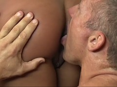 marcus quickly brings the black babe a pleasure with his schlong