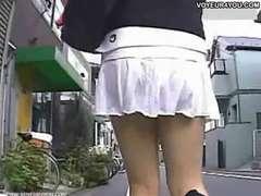 Summer season uniform upskirt unsheathed