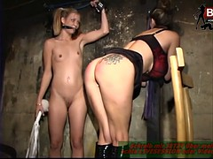 BDSM Lesbian Spanking Session