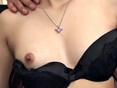 Asian gangbang slut gets showered in lots of cum