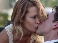 Sultry MILF rides lover's dick in his cabriolet