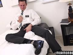 Mormonboyz - Boy jerks off and cums in his own mouth